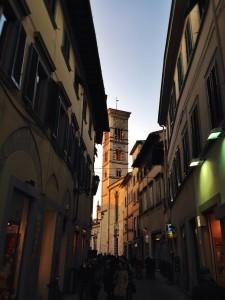 prato, tramonto. Sunset in Prato