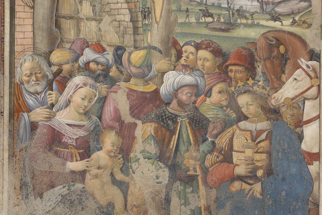 Giovanni Maria Tolosani, Adorazione dei Magi, 1522, collocazione Museo Diocesano, museo san pietro, colle di val d'elsa