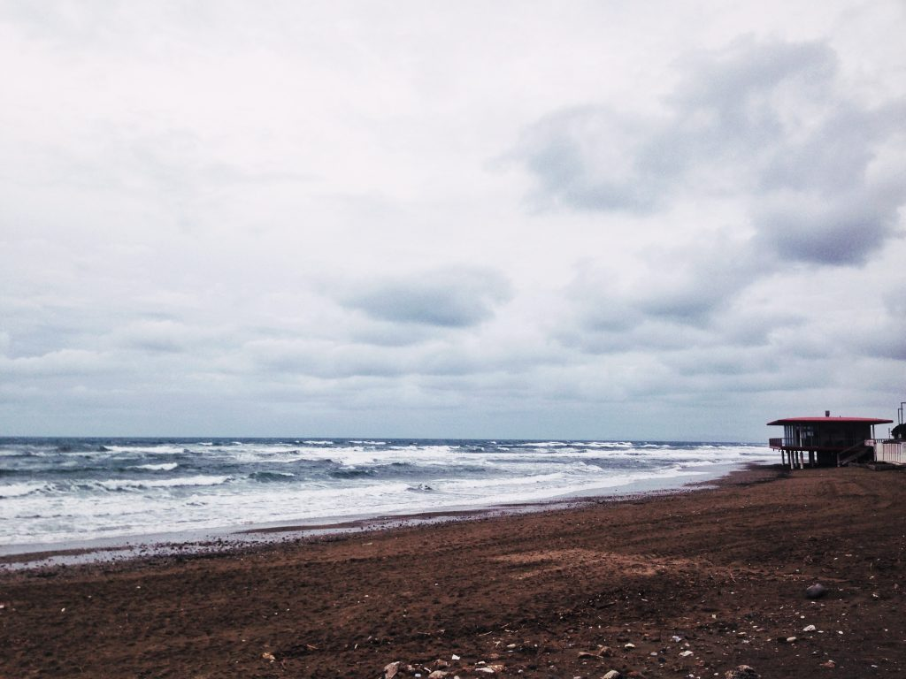 San Vincenzo, veduta sul mare inverno